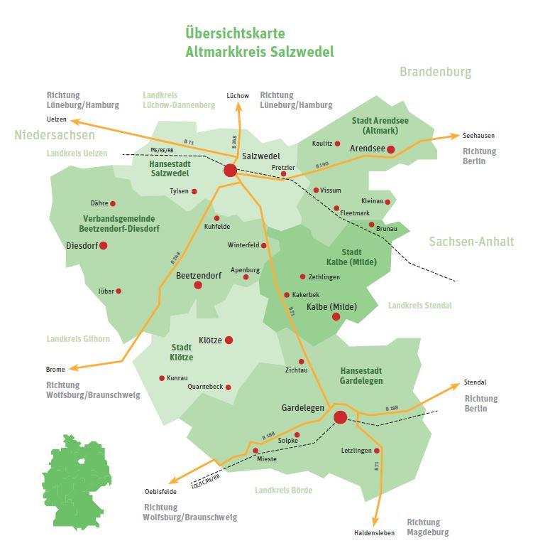 Karte Sachsen Anhalt Mit Flüssen.Altmarkkreis Salzwedel Infos Zum Landkreis